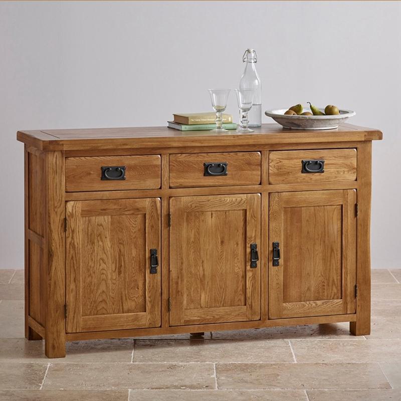 餐厅实木柜餐边柜橡木碗柜带门餐边储物柜厨房橱柜简易抽屉备餐柜