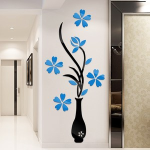 Vase plum wall sticker wall decoration painting warm living room bedroom TV background wall wardrobe glass decal wedding stain