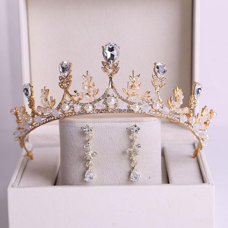 新娘皇冠头饰韩式水晶结婚头冠仙女十八岁生日王冠发饰婚纱配饰品