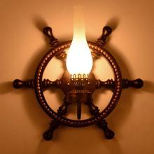 欧式复古地中海实id5船舵客厅am美式乡村个性仿古酒吧工程灯