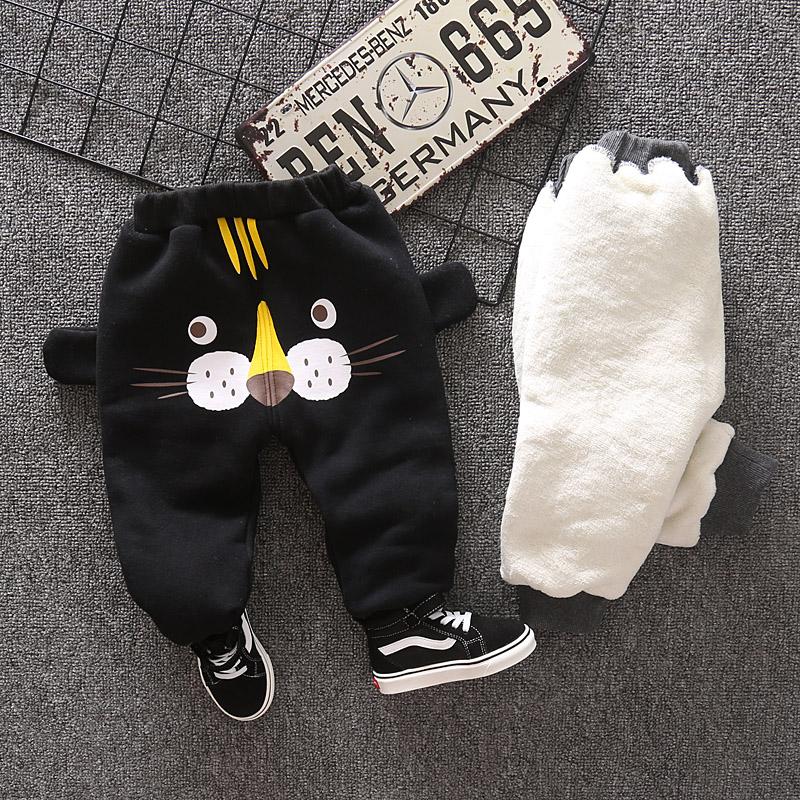 男童加厚裤子秋冬装小童儿童加绒保暖长裤宝宝休闲裤1一2-3岁棉裤