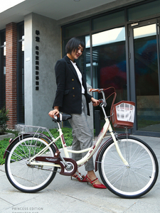 Bicycle Women's Commuting Bicycle Vintage Mobility Lightweight Common Princess Student Adult Male Lady Retro 26 Inch