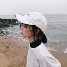 韩款刺绣字母(小)清ab5软顶春夏uo遮阳帽骑车棒球帽
