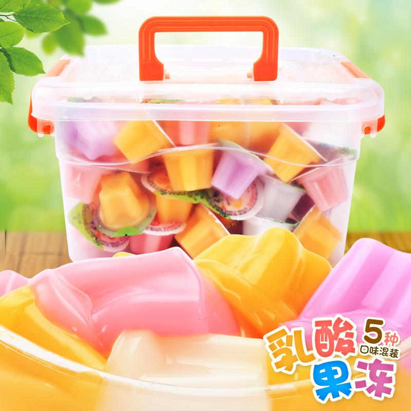 乳酸果冻布丁4斤整箱芒果味水果儿童零食散装多口味网红食品