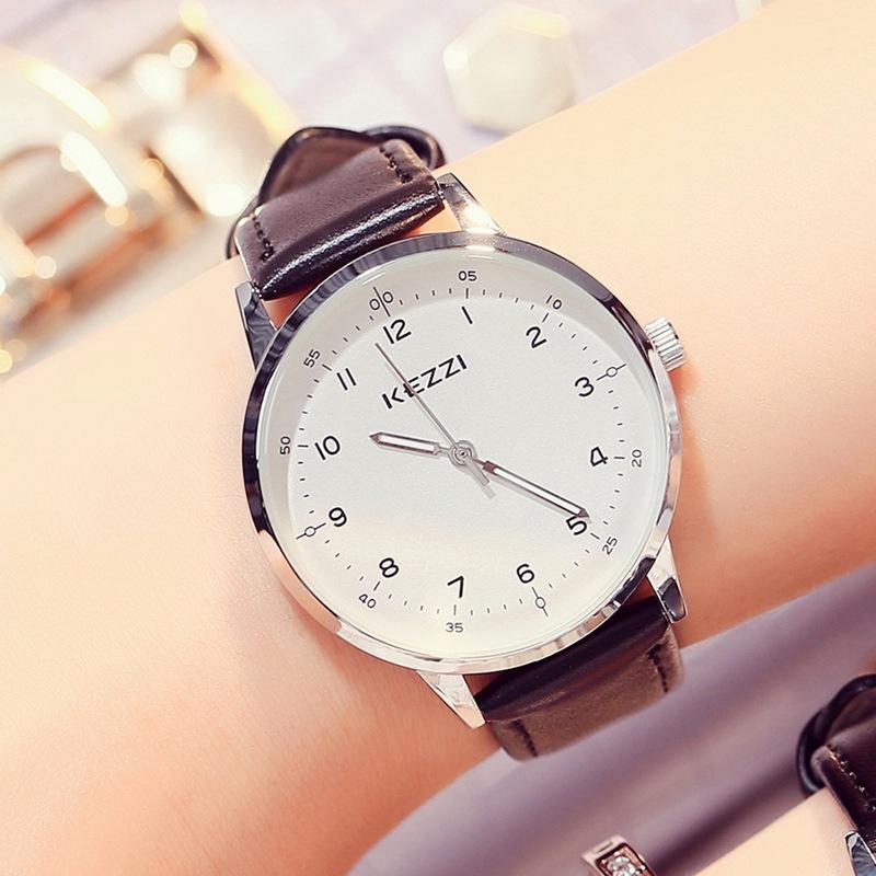 珂紫KEZZI 正品牌韩版潮流行皮带男女情侣中性学生日礼物时尚手表