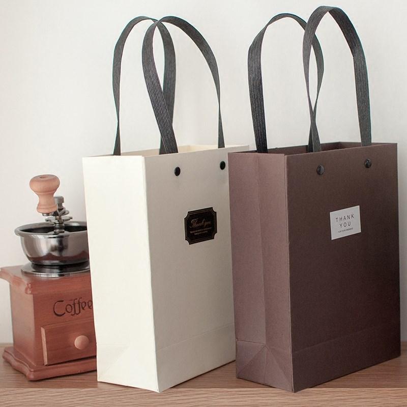 纯色礼品袋纸袋创意礼物袋生日回礼围巾礼物包装袋子手提袋礼袋