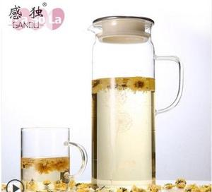 High-temperature-resistant large-capacity glass cold water bottle
