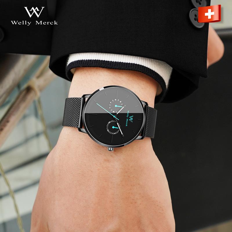 点击查看商品:威利默克WM手表男瑞士品牌正品专柜钢带Welly Merck名牌dw-ck男表
