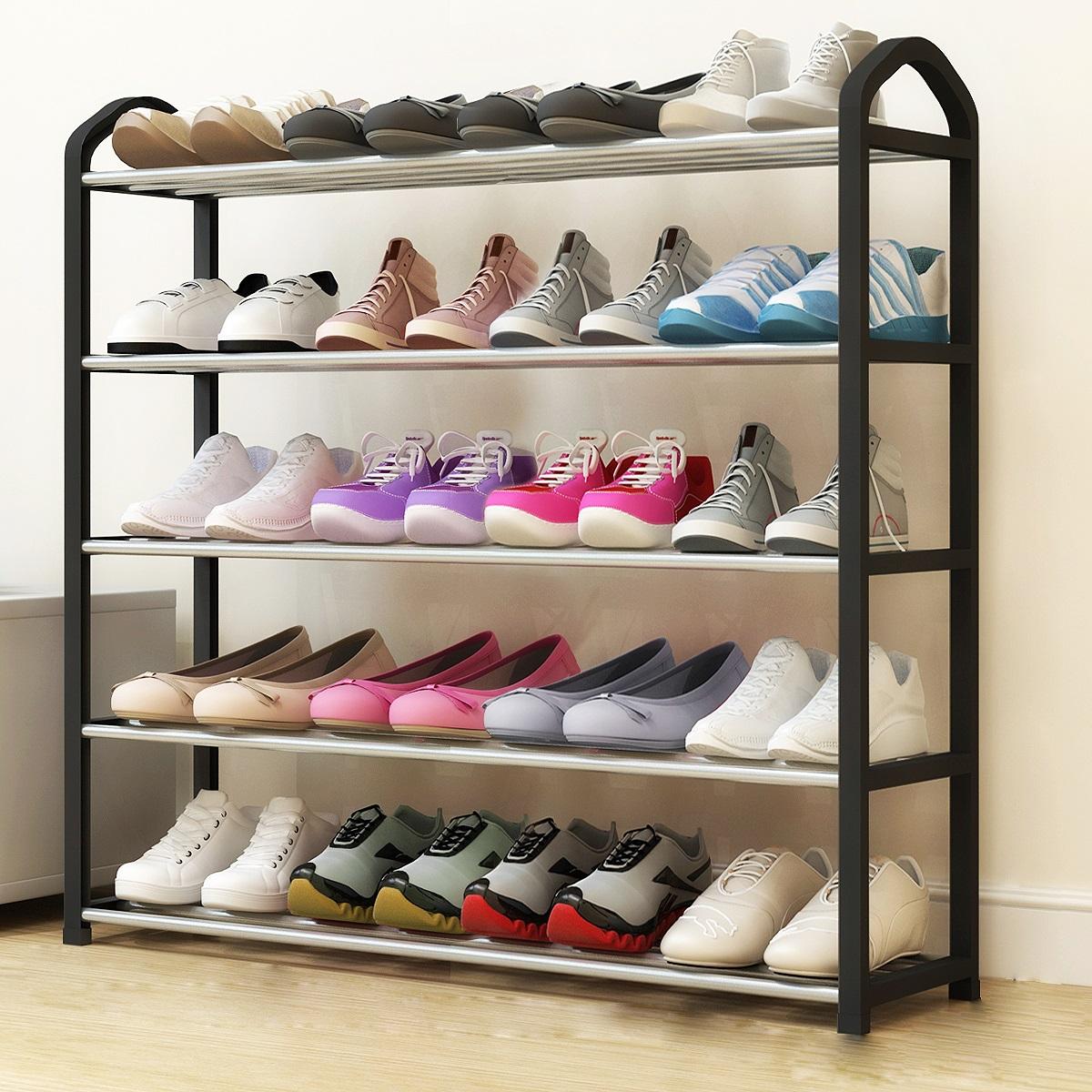 门口宿舍家用特价简易鞋架子多层经济型鞋柜不锈钢卫生间置物架
