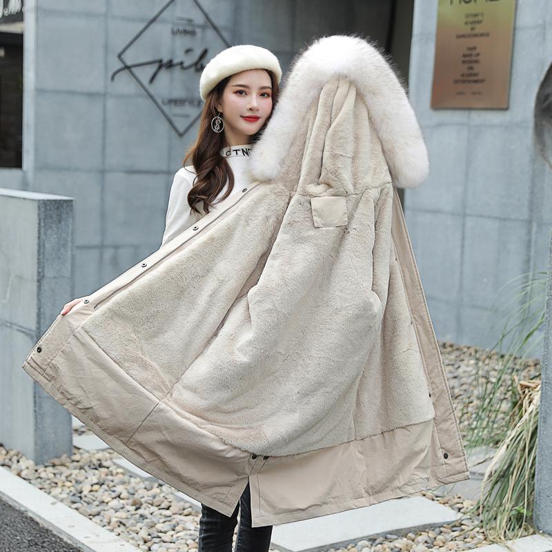 棉袄女冬2019新款韩版中长款很仙的棉服ins学生派克服宽松外套潮