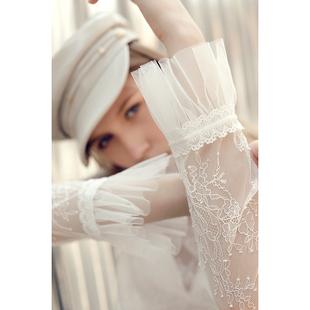 2020春秋新款高档欧货洋气内搭小衫长袖网纱蕾丝打底衫女雷丝上衣图片