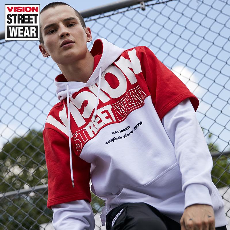 VISION STREET WEAR2019新款字母LOGO印花男女同款衛衣V193NB1009