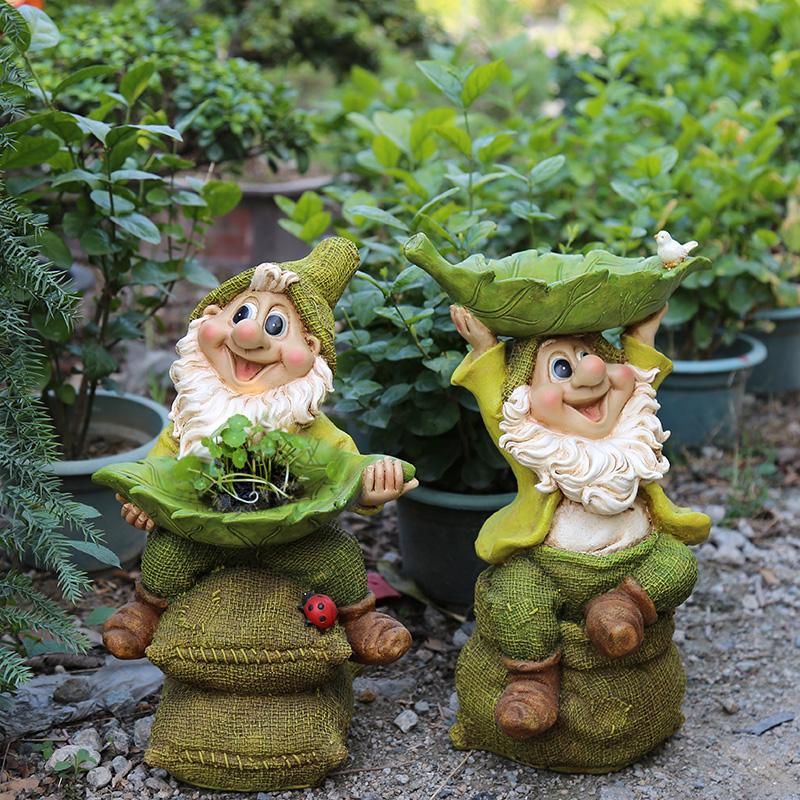 院子装饰 户外花园庭院摆件园艺装饰创意树脂小矮人卡通雕塑摆件