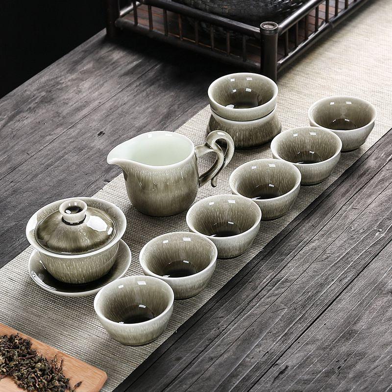 功夫茶具套装陶瓷家用小套茶道便携简约现代喝茶创意中式盖碗