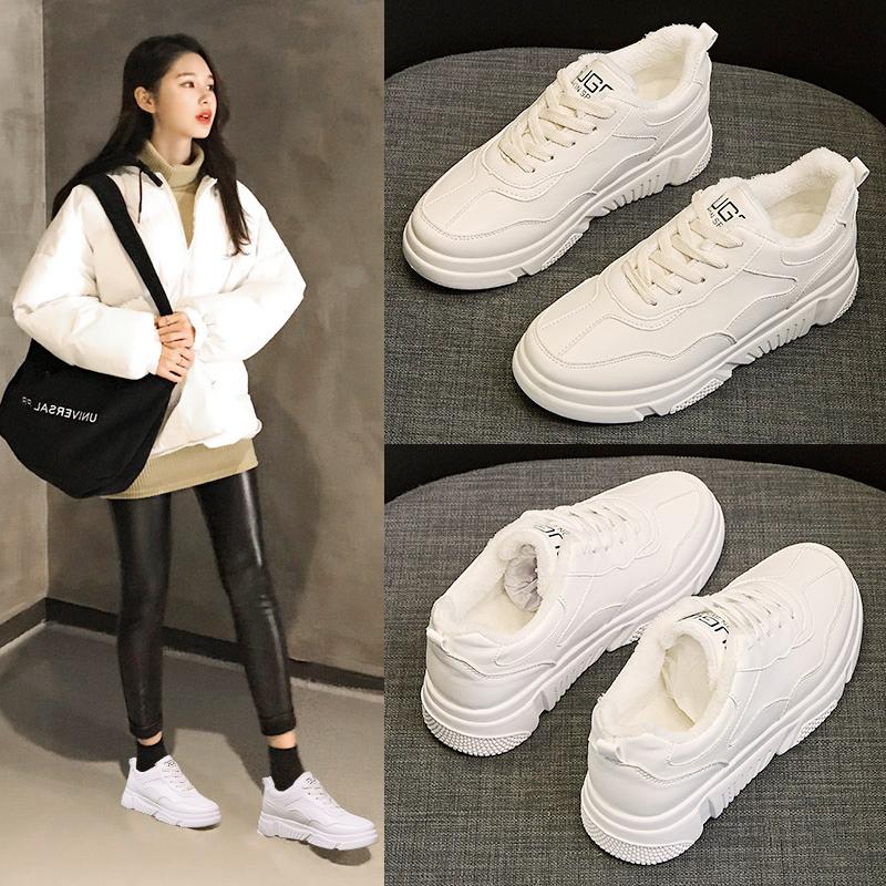 鞋子女2018新款棉运动鞋冬季韩版ulzzang原宿百搭学生老爹鞋加绒