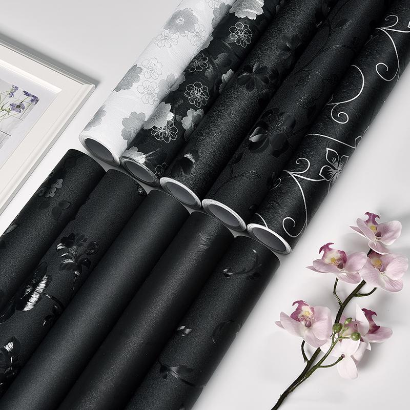 黑色遮光玻璃贴纸不透光窗户防晒隔热贴膜卧室卫生间神器遮阳贴纸