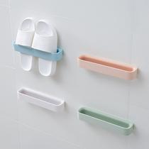 浴室拖鞋架壁挂式免打孔卫生间吸壁式置物架收纳神器厕所放鞋架子