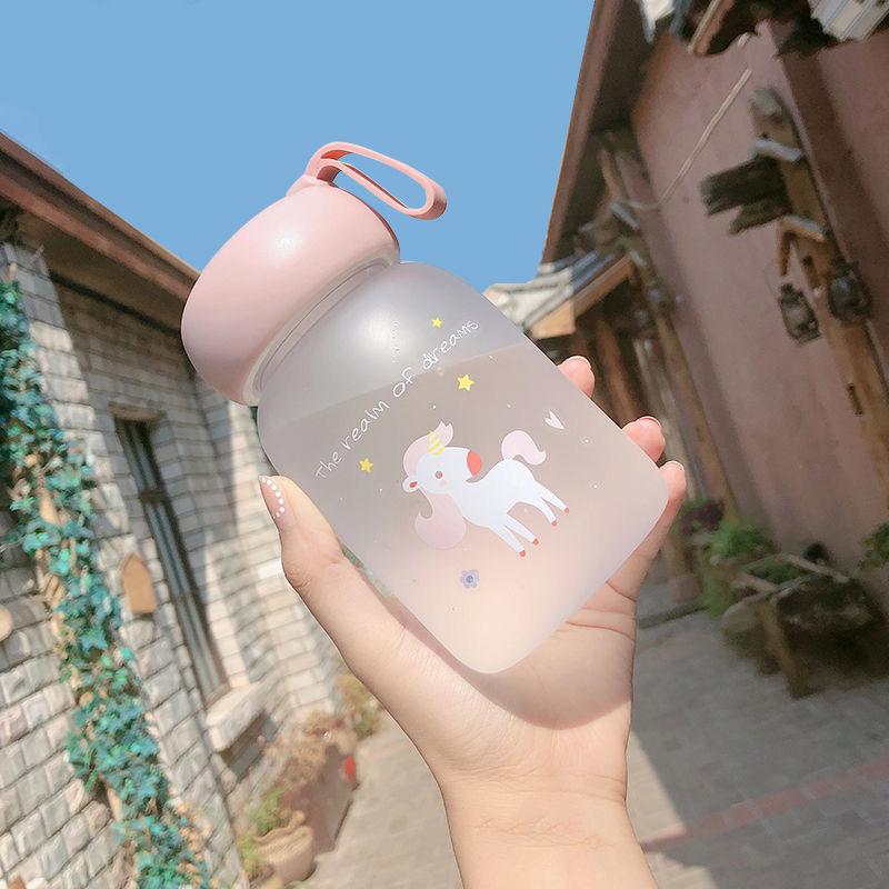 迷你玻璃杯便携韩国简约森系清新水杯女可爱超萌小巧网红少女杯子
