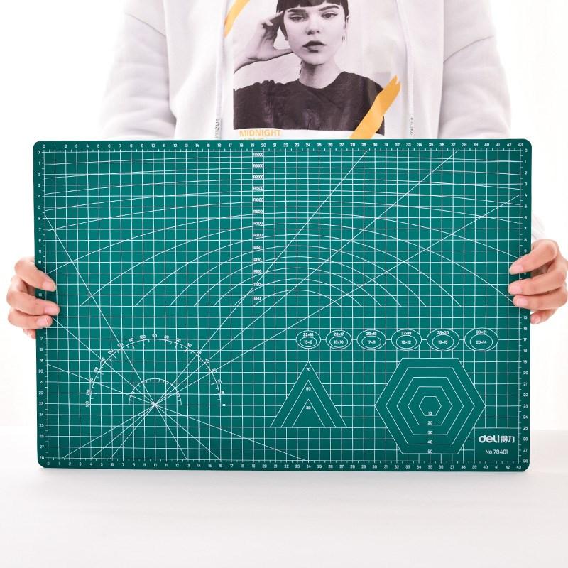 得力切割垫板a3大号切割板手工刻刀刻板雕刻板a2裁纸板桌面泥工板