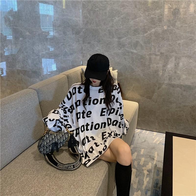印花韩版宽松泫雅夏防晒上衣服女ins潮长袖薄衫冰丝外套头洋气T恤