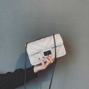 Chang Jiao Bags Women's Bags New 2019 Fashionable Atmosphere Bag Small Fragrant Rhombus Chain Bag Shoulder Messenger Bag