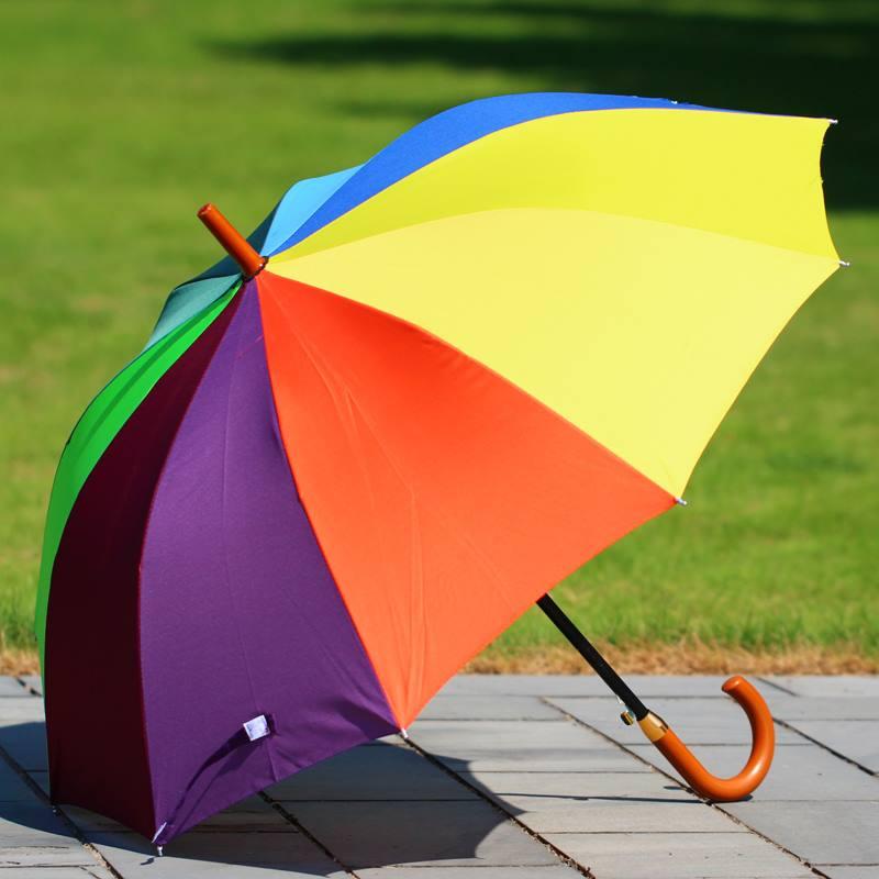 广告伞订制印LOGO长柄个性双人晴雨两用遮阳伞加固半自动雨伞实用