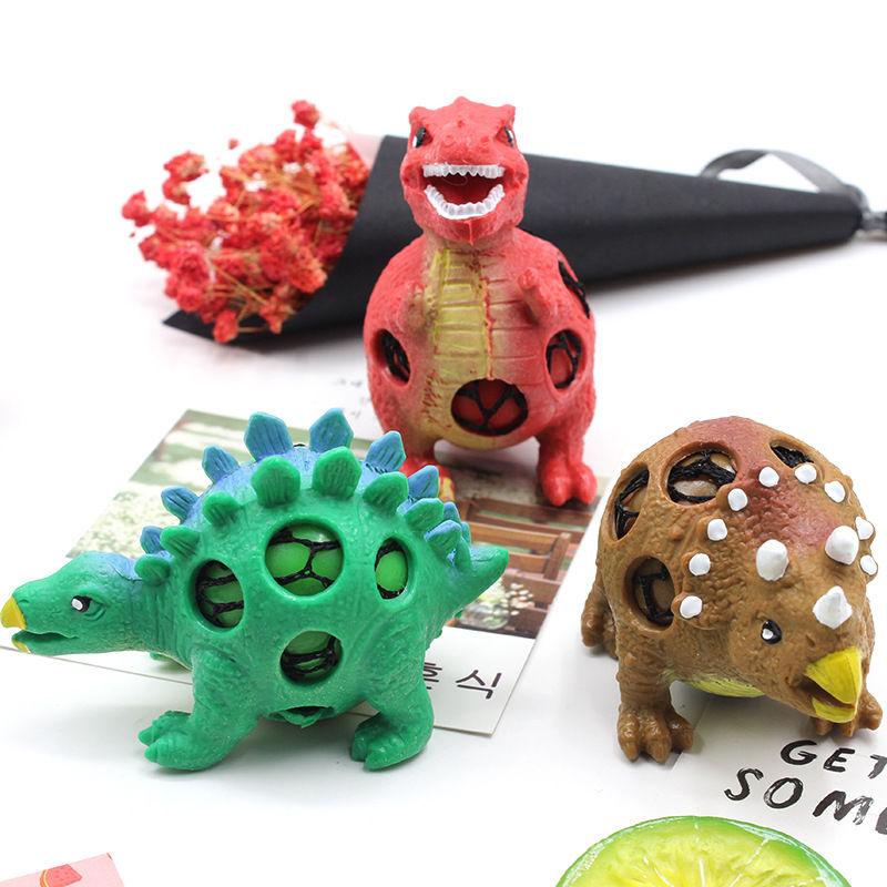 捏捏球 发泄恐龙葡萄球 TPR减压儿童玩具 爆珠恐龙挤压发泄球