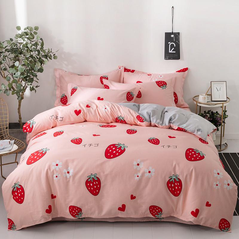 点击查看商品:卡芙缇纯棉四件套全棉床上用品学生宿舍单人被套床单三件套网红款