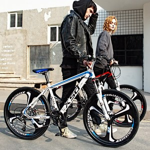 Dead fly vehicle dual disc brake road vacuum tire brake fluorescent retro live fly male and female student bicycle speed shift lightweight
