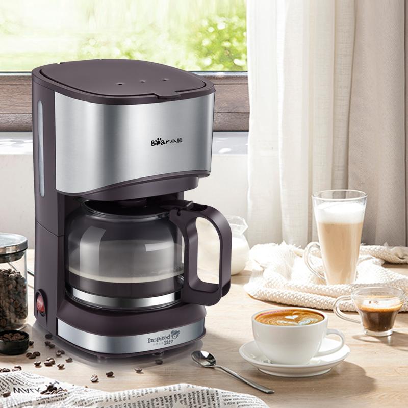 小熊美式咖啡机家用小型全自动咖啡壶滴漏式迷你煮茶壶办公室两用