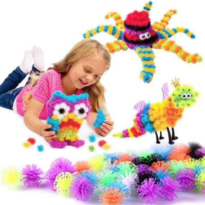 捏捏球蓬蓬球玩具百变积木益智黏黏球粘粘球幼儿园2-8岁儿童玩具