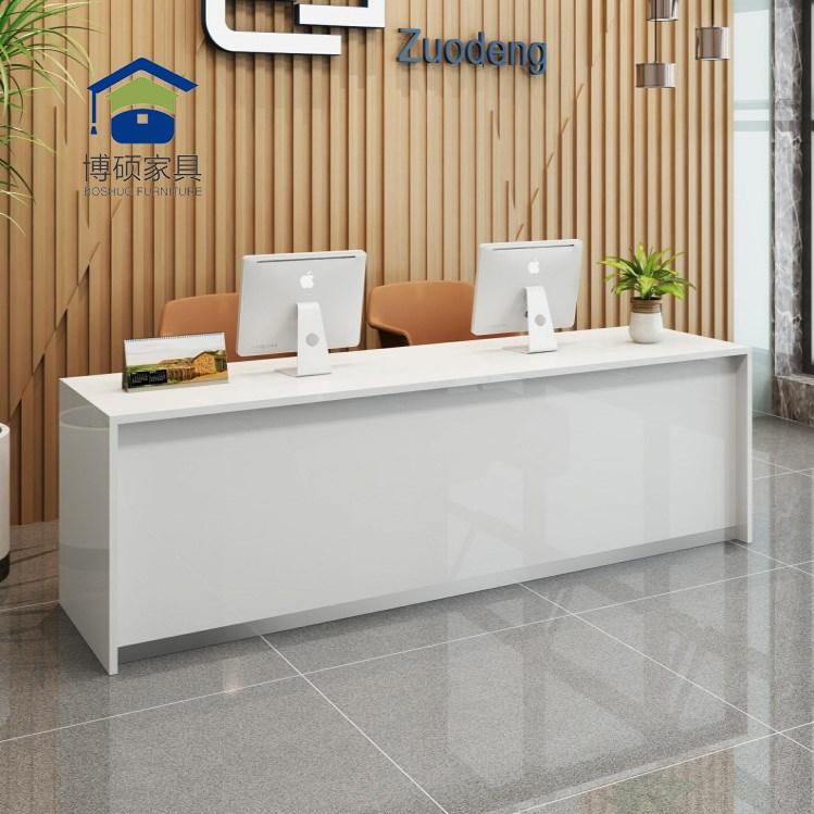柜台公司前台桌房产中介台旅行社办公桌现代简约吧台接待收银台