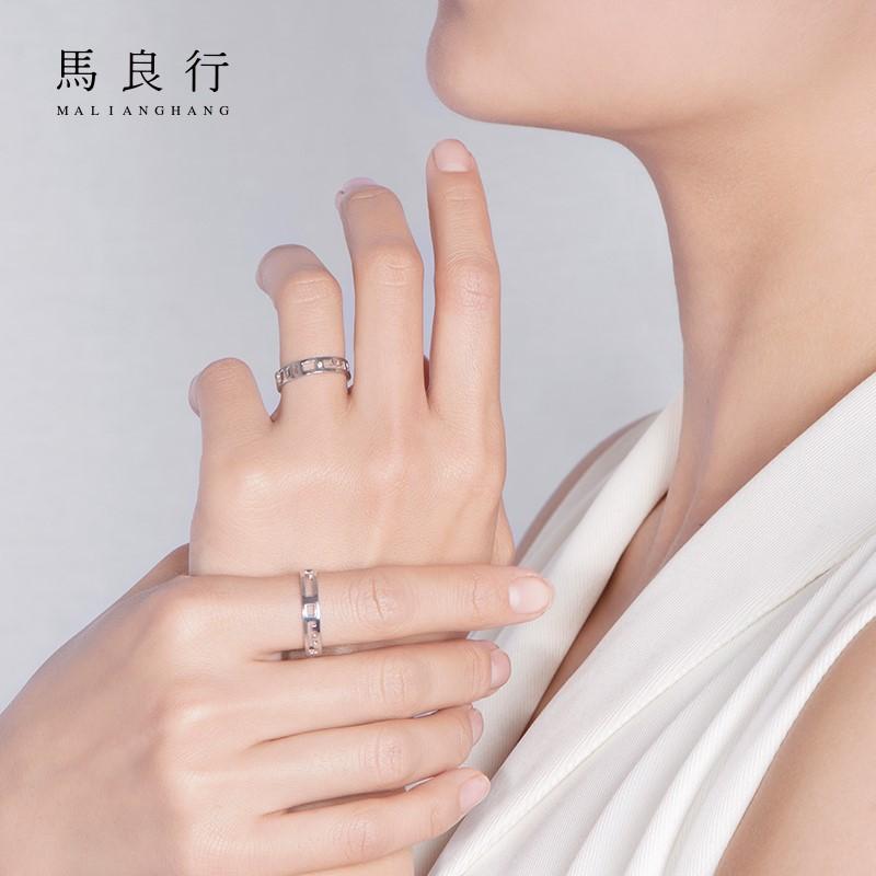 私人订制戒指情侣高端 刻字侣对戒一对关节戒指男单身银尾戒配饰