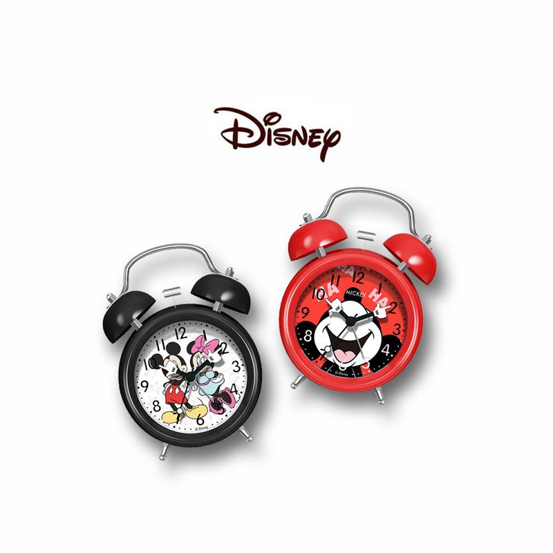 迪士尼闹钟儿童专用卡通学生用男孩女静音可爱床头小夜光米奇起床