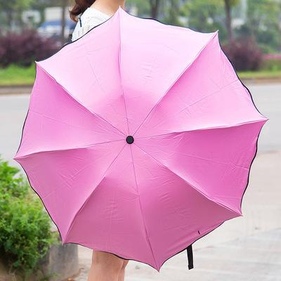 摆摊纯色伞女商务礼品伞晴雨折叠伞酒店男女订制广告雨伞时尚个性