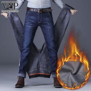 【今日下单109元】男款秋冬季加厚保暖直筒修身牛仔裤休闲