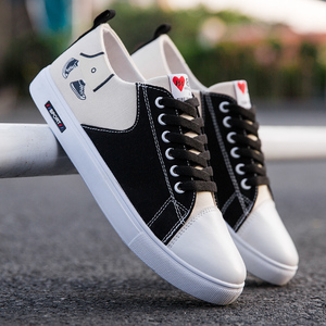 2019 new autumn and winter men's shoes Korean version of the trend of wild men's sports casual canvas shoes student board shoes tide shoes