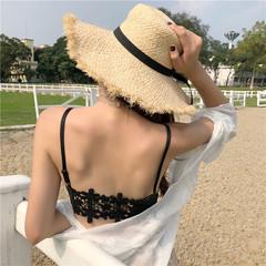 实拍,夏季,冰丝,美背,吊带,小背心,少女,胸垫,抹胸,实价,黑色,均码
