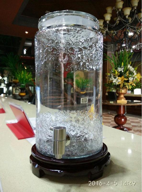 加厚玻璃泡酒瓶带龙头透明人参药酒玻璃酒坛10斤20酒缸密封酵素桶
