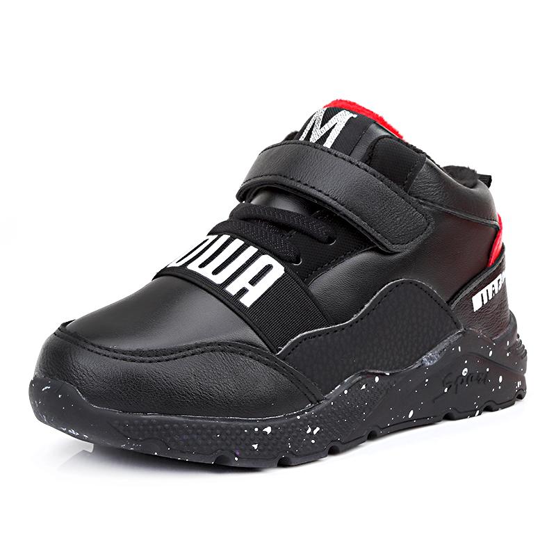 儿童棉鞋2018秋冬加绒加厚男女童运动鞋男童鞋中小童旅游鞋休闲鞋