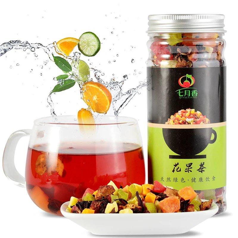 七月香花果茶水果茶果粒茶洛神花茶200g罐装巴黎香榭