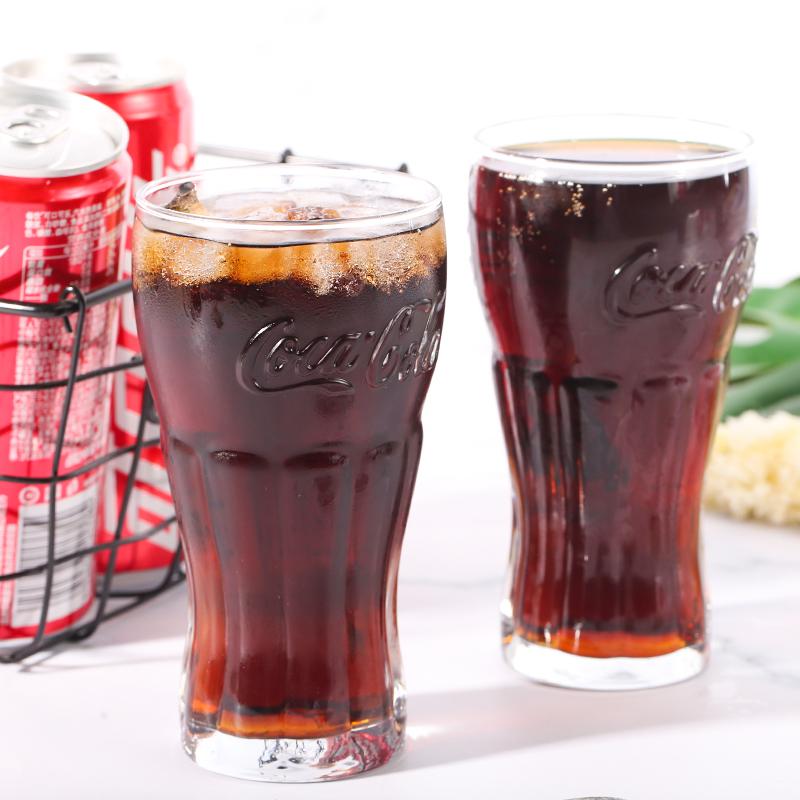 进口玻璃杯ins可乐杯果汁啤酒杯咖啡牛奶茶杯创意水杯开水杯