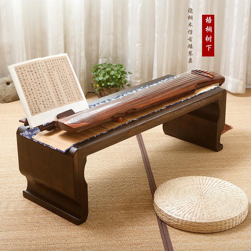 烧桐木共鸣琴桌国学书法桌茶桌共鸣古筝仿古琴桌凳实木茶几