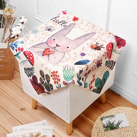 棉麻床头柜盖布防尘罩电视机冰箱微波炉罩布艺小桌布多用万能盖巾