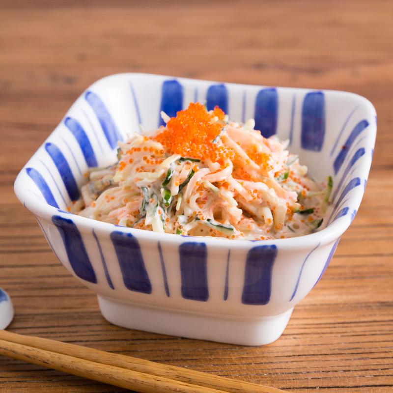 陶趣居 日式甜品碗 和风餐厅沙拉水果碗方形碗创意餐具凉菜碗瓷碗
