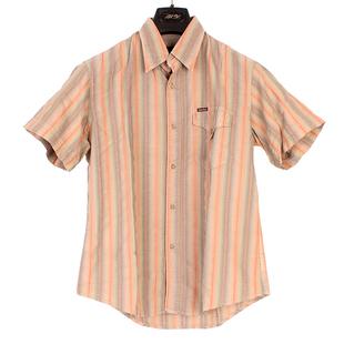 万宝路衣服mcs男装男士衬衫男短袖衬衣男夏季条纹休闲修身新款