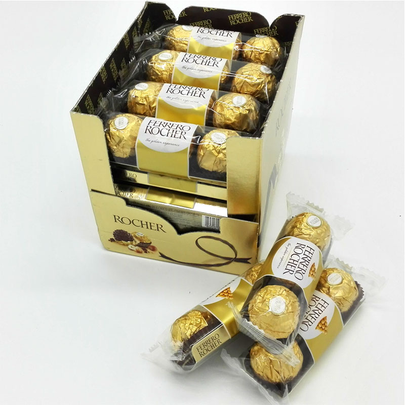 费列罗巧克力礼盒装48粒金莎榛果费雷罗婚庆喜糖散装T316年货糖果