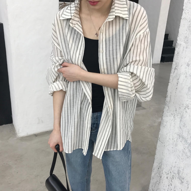 Motzu/自制 别致的竖条纹衬衫 推荐