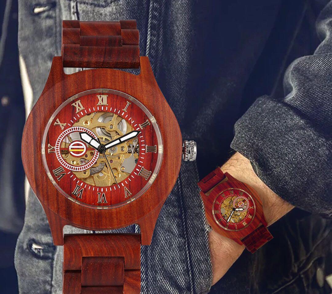 时尚机械木表腕表流行刻字私人定制表礼物表品牌高端生日礼品