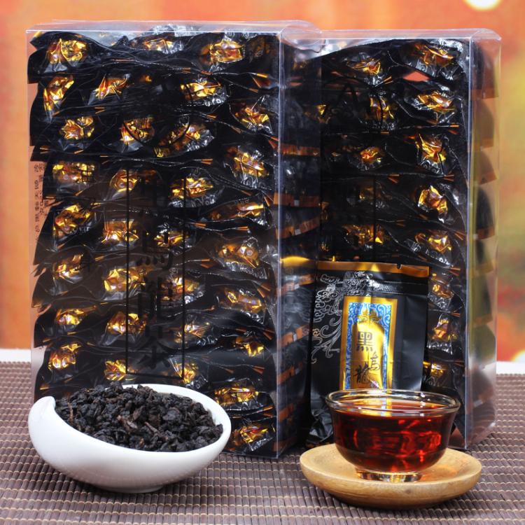 买1送1黑乌龙茶 油切黑乌龙茶浓香型炭焙黑乌龙茶叶 盒装250g包邮
